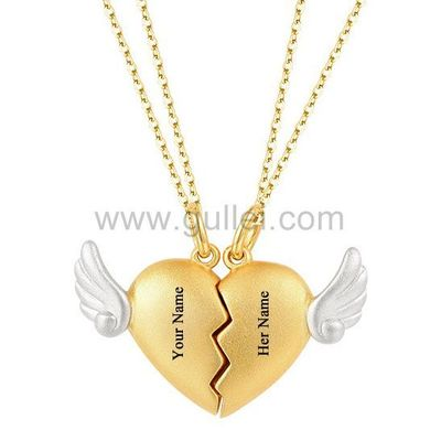 Gullei.com Magnetic Hearts Relationship Necklaces Gift for Boyfriend Girlfriend