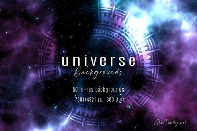 Ready to dive into Deep Space? Here is an amazing set of 50 unique high-resolution Universe backgrounds, ideal for web and print!  50 Printable High-Quality Digital Papers!  Use them for scrap-booking and card-making, party invitations, journals, you...
