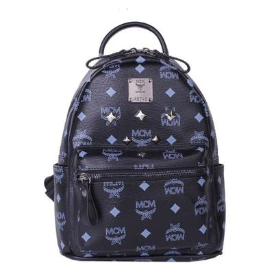 MCM Mini Stark Six Studded Backpack In Black