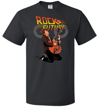Rock To The Future Unisex T-Shirt $15.00 https://www.nurdtyme.com