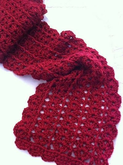 Previous Poster Says Urban Shells Crochet Scarf Patter