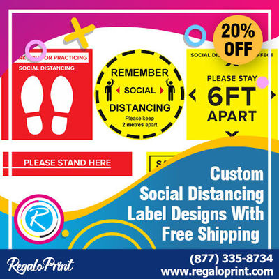 Custom Social Distancing Label Designs With Free Shipping.jpg