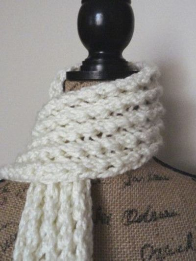 Knitting Pattern Ribbed Scarf : Free Knitting Pattern ?