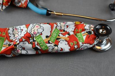 Stethoscope Cover- Red Christmas Santa $7.99