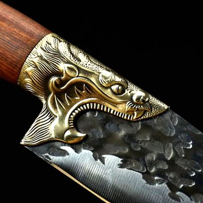 Chef Knife Universal Home Kitchen Tool Dragon Sculpture Handle ILS448.00