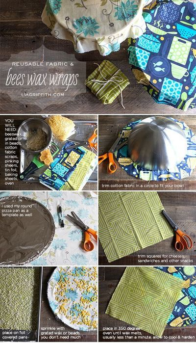 Replace the plastic wrap in your kitchen with these eco friendly reusable wraps.
