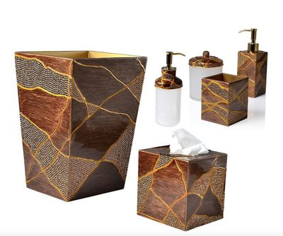 Genesis Bronze Bath Accessories by Mike + Ally $175.00