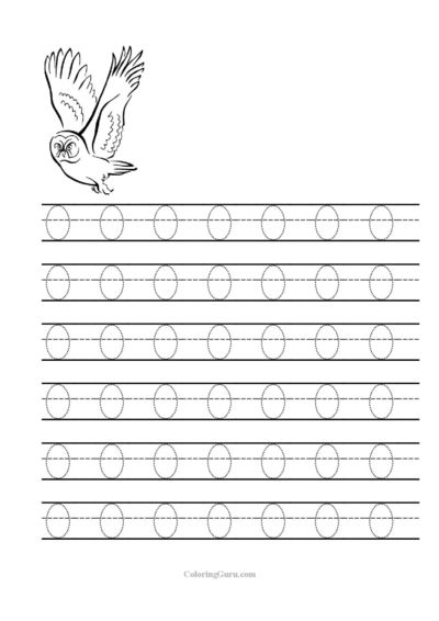 Free Printable Tracing letter O worksheets for preschool / Free ...
