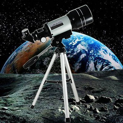 HD Monocular Telescope, Outdoor Professional Space Astronomic Telescope With Portable Tripod For Children Student Silver