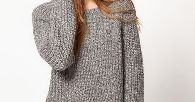 Fred Perry Chunky Knit Boyfriend Sweater