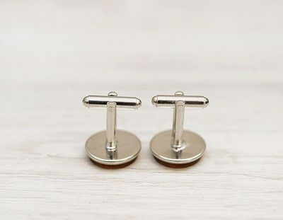 Personalized Wedding Cufflinks - GROOM & wedding date - Very elegant wooden wedding ceremony cuff links $24.00
