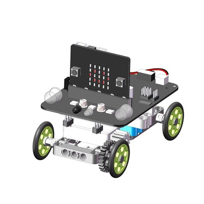 YahBoom Micro:bit DIY 9 In 1 Programmable Block Building Tracking Obstacle Avoidance Smart RC Robot Kit