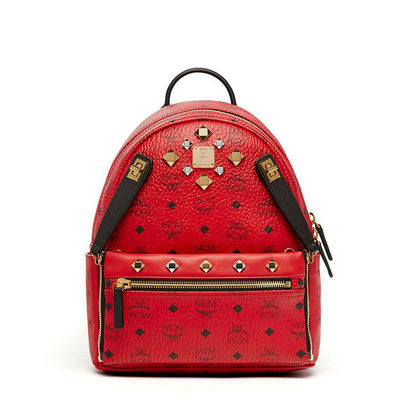 MCM Small Dual Stark Odeon Backpack In Red