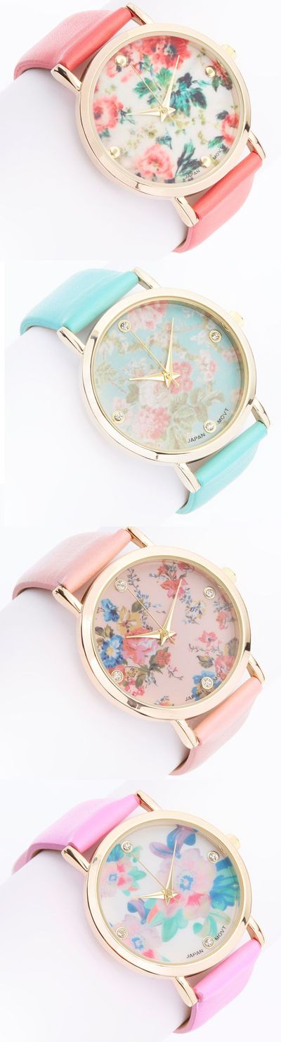 Pastel floral watches