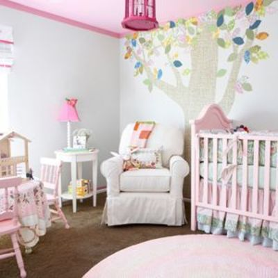 I would have to have another baby so not going to happen- but I LOVE this nursery.