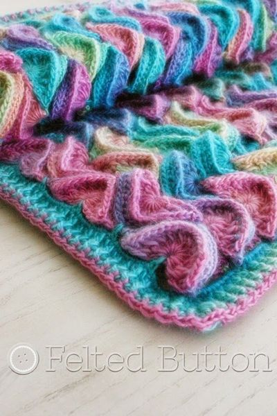 Just Lovely From Sea Song Blanket Crochet Pattern By Felte