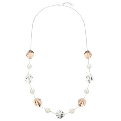 Shell Shape and Pearls Necklace - Mix