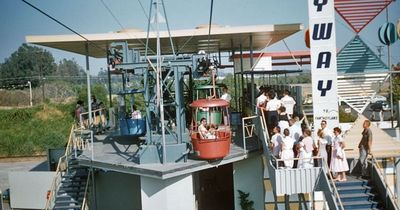 Disneyland's Tomorrowland Skyway Station.