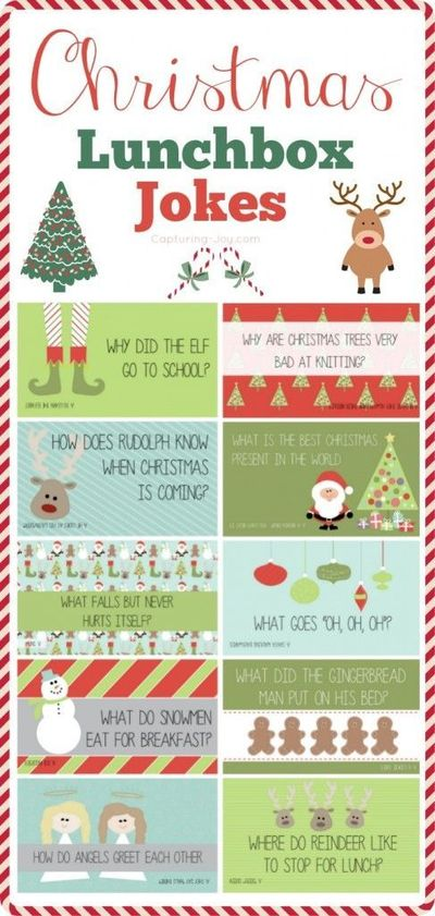 Christmas Jokes - These free printable Christmas jokes are a fun holiday tradition that kids of all ages will enjoy. And parents too!