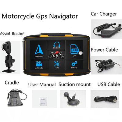 5inch Android 6.0 16G IPS Waterproof Motorcycle Car GPS Navigation Adjustable Touch Screen With bluetooth Function