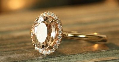 Except in yellow gold. Handmade Natural Morganite Engagement Ring 9x7mm Oval Peach Apricot Morganite Halo Diamond Ring 14k Rose Gold (Ready to Ship Size 7)