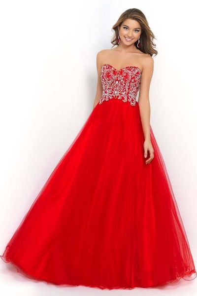 Carmine Modest Sweetheart Neckline Ball Gowns