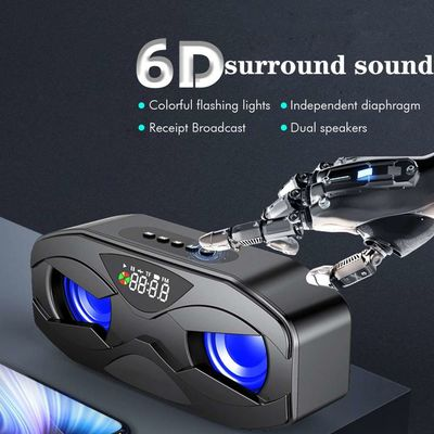 10W Bakeey M5 Wireless bluetooth Speaker LED Clock FM Radio TF Card Bass Stereo Subwoofer Soundbar with Mic