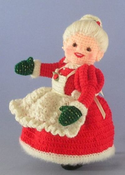 Amigurumi Santa Patterns : Crocheted Mrs Santa Claus Amigurumi - FREE Crochet Pattern ...