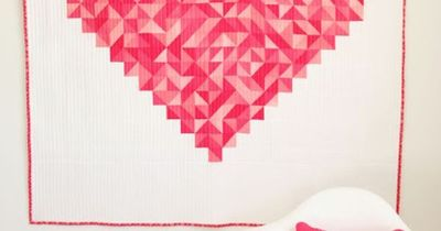 In January, one of my favorite designers, Vanessa Christenson of V & Co., debuted her first quilt of the year �€� �€œI Heart You.�€ I'd been tossing around a few ide