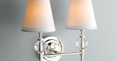 Powder room lighting - Wilshire Double Sconce - Restoration Hardware