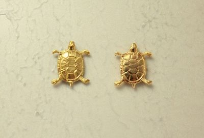 14 Karat Gold Plated Turtle Magnetic Clip Non Pierced Earrings $25.00 Designed by LauraWilson.com
