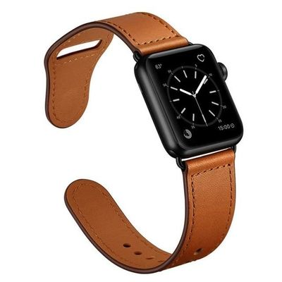 Leather watch strap For apple watch 4 3 44mm/40mm/42mm/38mm iwatch band $34.99