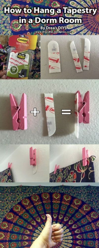 Do it yourself ways to decorate your college dorm room without spending a lot of money; DIY hacks, tips and tricks for decorations; Ideas for school dorms