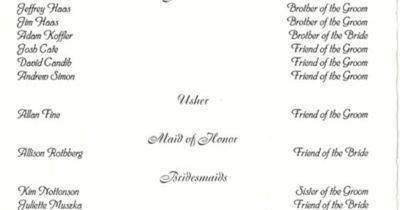 wedding programs: what to put in the program