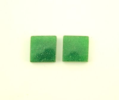 Natural Green Adventurine Stone 13 mm Square Magnetic Non Pierced Clip On Earrings $37.00 Designed by LauraWilson.com