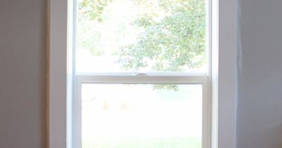 How to make your own window trim- this is so inexpensive and looks amazing!