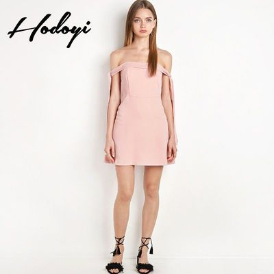 2017 summer new women fashion sexy neck strapless slim dress - Bonny YZOZO Boutique Store