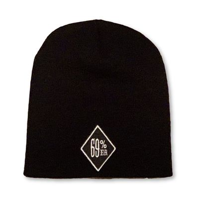 "THIGHBRUSH® ""69% ER DIAMOND COLLECTION"" - Beanies - Diamond Patch on Front - Black"