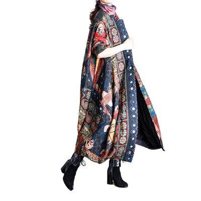 Vintage cotton and linen Winter Coat, Cashmere Coat, Women Coat, Plus Size Clothing
