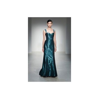 Simple A-line Spaghetti Straps Ruching Floor-length Taffeta Evening Dresses - Dressesular.com