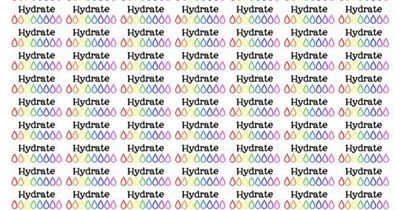 image regarding Water Tracker Printable referred to as Hydrate H2o Monitoring - totally free planner printable stickers - M