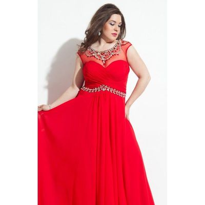 Embellished Gown Dresses by Rachel Allan Plus 7022 - Bonny Evening Dresses Online