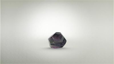 Dark Purple Fuschite faceted cube $35.35