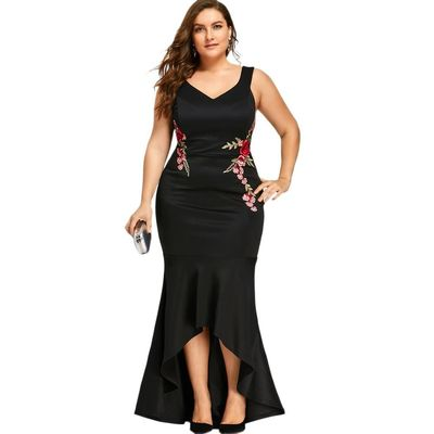 Embroidery Rose Evening Dress $56.99
