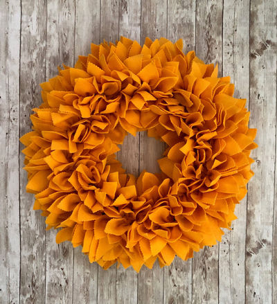 Gold Fall Felt Wreath - 3 Sizes! - Great for Indoor or Outdoor (covered) Use. $34.99