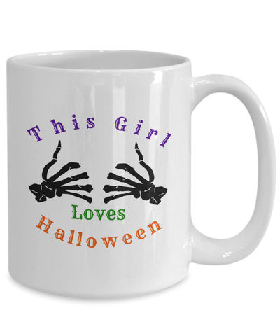 This girl loves halloween $15.95