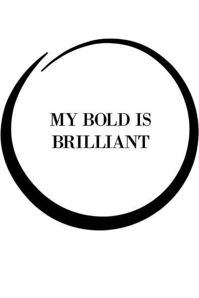 My Bold is Beautiful $4.00