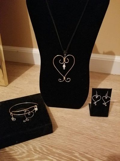 Gold Heart Collection- Wire Wrapped Jewelry $17.00