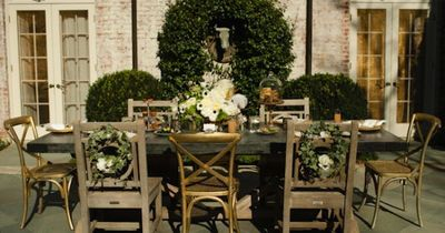 Prime Outdoor Tablescapes Outdoor Gold And Wood Tablescape Eli Home Interior And Landscaping Palasignezvosmurscom