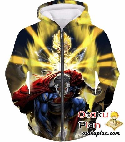Dragon Ball Z Zip Up Hoodie - Majin Vegeta And Spuerman $39.99